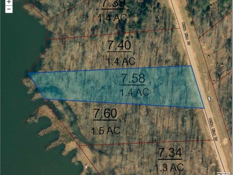 1.4 Acre Waterfront Lot : Cedar Grove : Carroll County : Tennessee