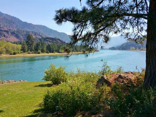 Montana Flathead Riverfront Home, S : Paradise : Sanders County : Montana