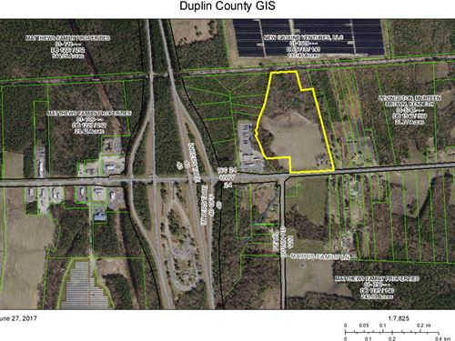 Commercial Zoned Hb I-40 & 24-Hwy : Warsaw : Duplin County : North Carolina