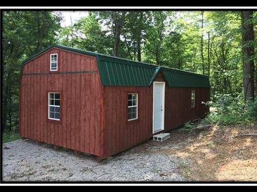 14 Acres W Cabin On Creek : Jackson : Ohio
