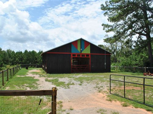 17 +/- Ac Equestrian Barn/Workshop : Alexander City : Tallapoosa County : Alabama