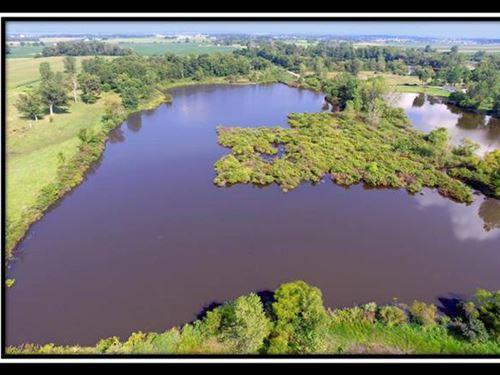 13.39 Acres With 7.5 Acre Lake : West Liberty : Logan County : Ohio