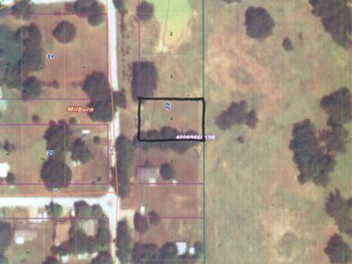 Great Building Site, Only $5,500 : Tishomingo : Johnston County : Oklahoma
