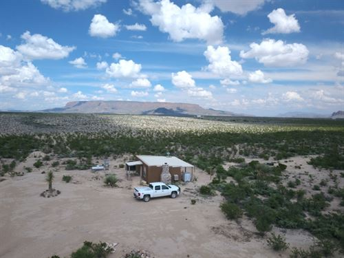 10 Acres With Off Grid Cabin : Terlingua : Brewster County : Texas
