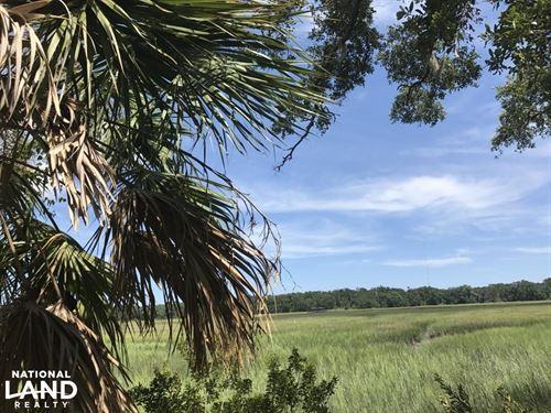 Fripp Point Road Marsh/Waterfront : Saint Helena Island : Beaufort County : South Carolina