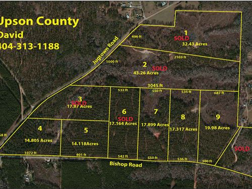 Nice Acreage Properties : Thomaston : Upson County : Georgia
