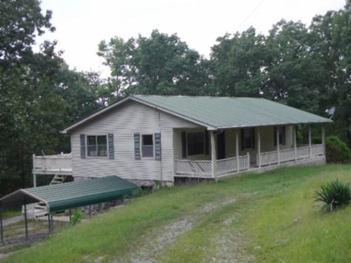 7 Ac W/ Home, Creek, Views & Close : Celina : Clay County : Tennessee