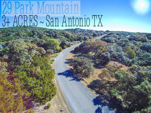 3.08 Acres In Bexar County : San Antonio : Bexar County : Texas
