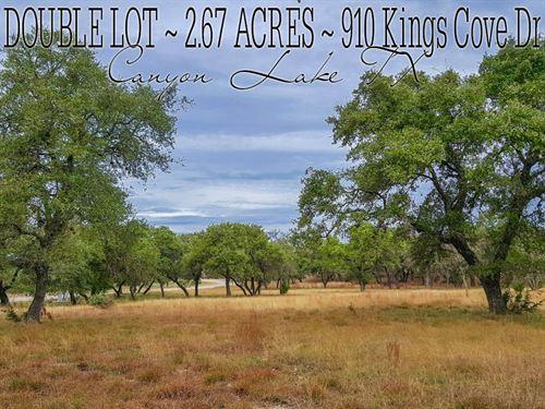 2.67 Acres In Comal County : Canyon Lake : Comal County : Texas