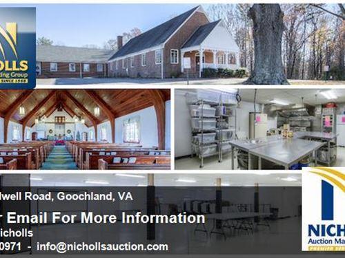18,000 Sq. Ft. Bldg On 9 Acres : Crozier : Goochland County : Virginia