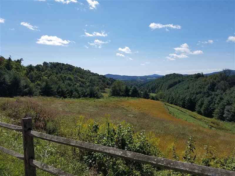 12+ Acre Estate Lot With Long Rang : Grassy Creek : Ashe County : North Carolina