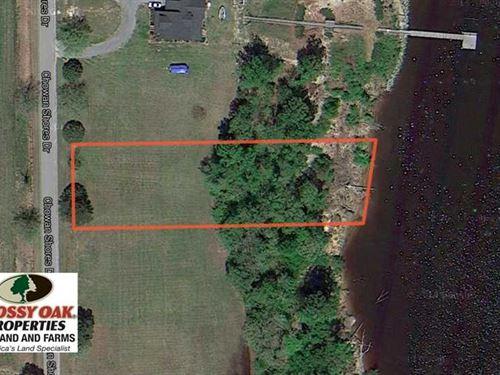 Reduced,.81 Acre Waterfront Lot : Colerain : Bertie County : North Carolina