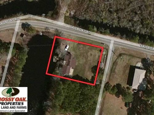 Reduced,.35 Acre Canal Front Lo : Shiloh : Camden County : North Carolina