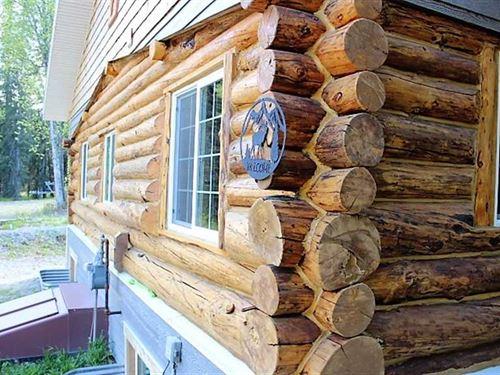 Log Home on Fritz Lake. Turn-Key : Soldotna : Kenai Peninsula Borough : Alaska