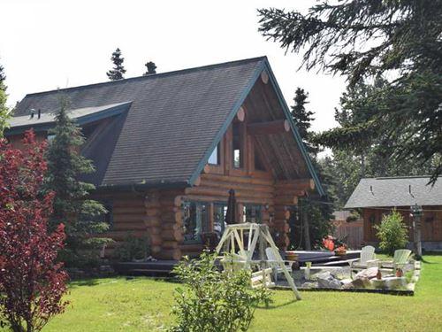 2Br Beachfront Log Home One 1 Acre : Kenai : Kenai Peninsula Borough : Alaska