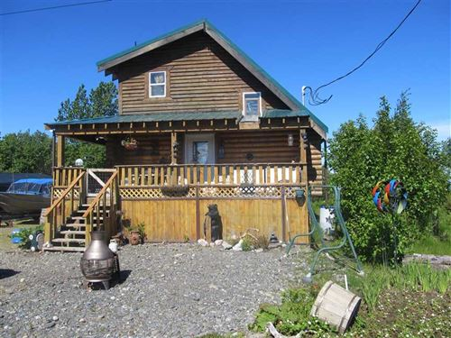 Rustic 1Bdrm Cabin on The Ninilchi : Ninilchik : Kenai Peninsula Borough : Alaska