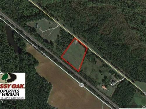 Reduced, 4.0 Acres of Commercial : Disputanta : Prince George County : Virginia