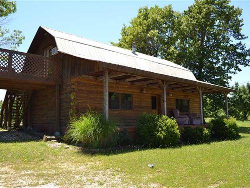 2 Story Rustic Cabin And 16.40 Sur : Saint Joe : Searcy County : Arkansas