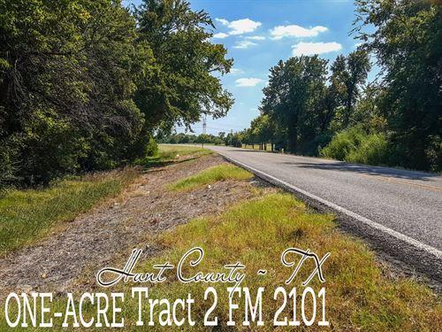 1 Acre In Hunt County : Lone Oak : Hunt County : Texas