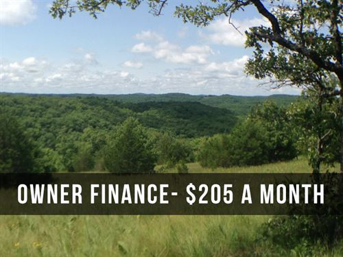 8 Acres With Stunning Views : Mansfield : Wright County : Missouri