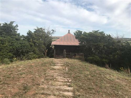 Price Reduction --Hide Away Log : Hydro : Caddo County : Oklahoma