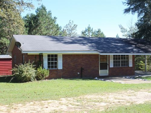 Home With 4 Acres In Jasper County : Louin : Jasper County : Mississippi