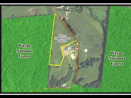 10 Acres Symmes Retreat On Wayne : Patriot : Gallia County : Ohio