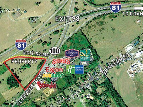 Auction- 11.8 Commercial Land : Dublin : Pulaski County : Virginia