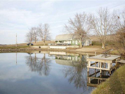 9 Acres M/L, 3Br/2Ba Cabin For Sal : Leighton : Mahaska County : Iowa