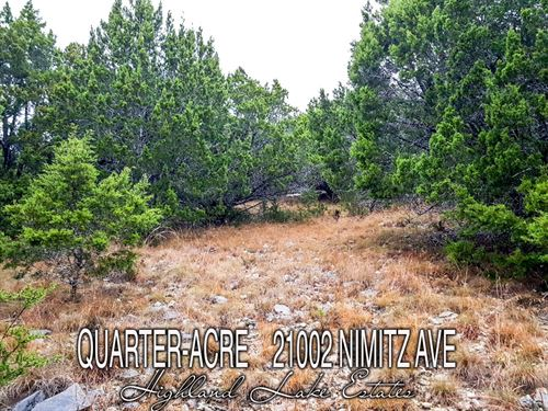 .24 Acres In Travis County : Lago Vista : Travis County : Texas