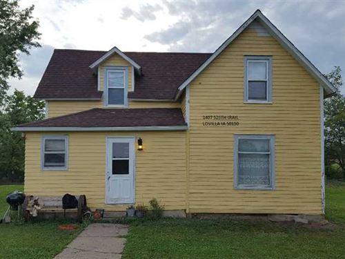 Acreage w/ 2 BR Home And Pond For : Lovilia : Monroe County : Iowa