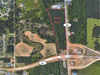 Wooded Commercial Lot Available : Warner Robins : Houston County : Georgia