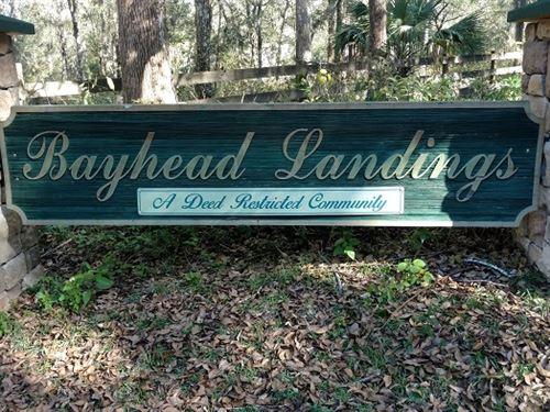 Bayhead Landing Building Lot : Dade City : Pasco County : Florida