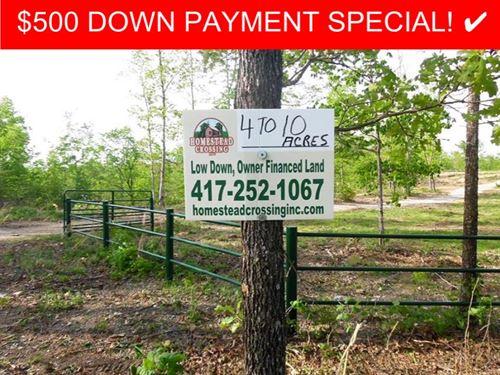 4 Acres Of Ozark Land : West Plains : Howell County : Missouri