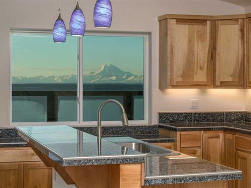New Construction. Ocean Front Home : Kasilof : Kenai Peninsula Borough : Alaska