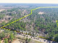 17 Acres Hwy 150 : Coldspring : San Jacinto County : Texas