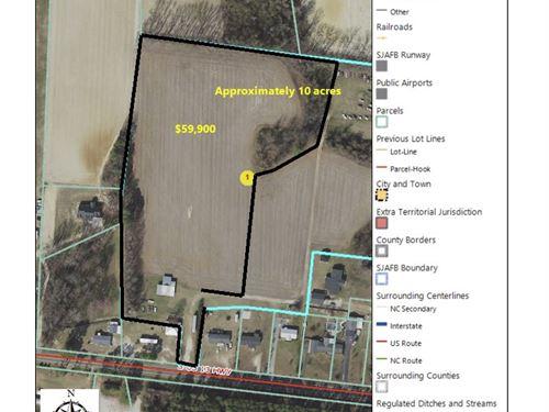 Mostly Cleared Land : Goldsboro : Wayne County : North Carolina