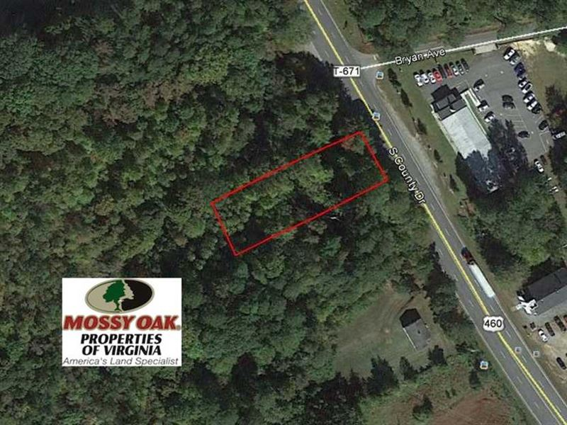 .96 Acre Commercial Lot For Sale : Wakefield : Sussex County : Virginia