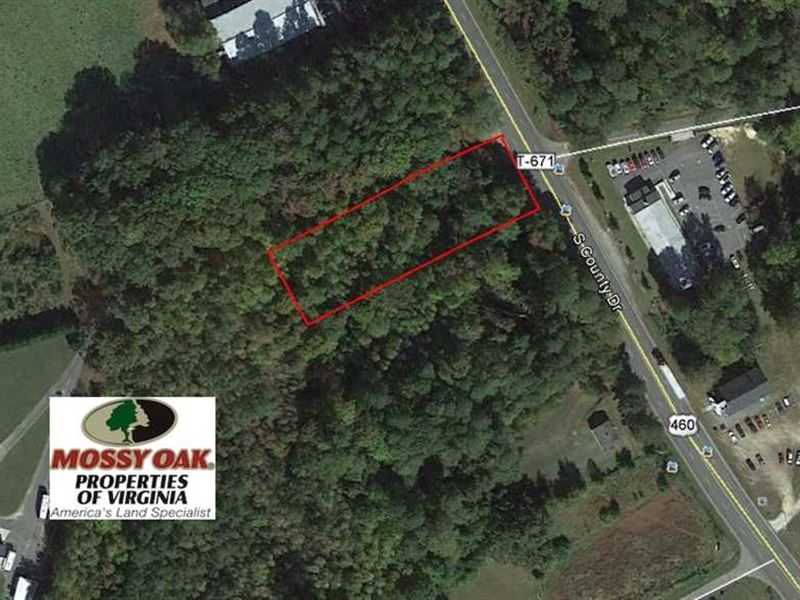 1.15 Acre Commercial Lot For Sale : Wakefield : Sussex County : Virginia