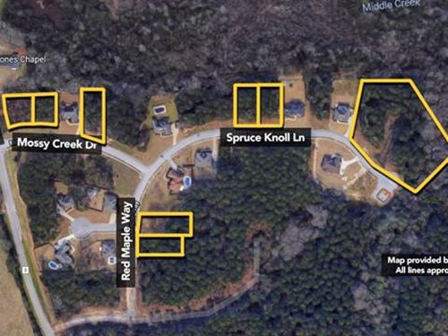 Land. Approx 6.26Ac Lot : Millbrook : Elmore County : Alabama