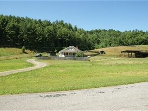 1.6 Acre Horse Property With House : Fries : Carroll County : Virginia