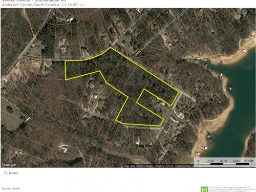 13.16 Acres 7 Residential Lots : Townville : Anderson County : South Carolina