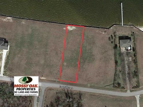 Reduced, .62 Acre Waterfront Lot : Blounts Creek : Beaufort County : North Carolina