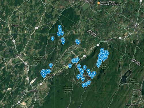 95 Lots Ordered For Immediate Sale : Vernon : Sussex County : New Jersey