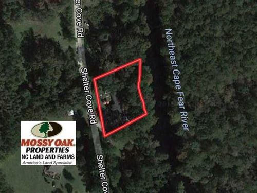 Reduced, .50 Riverfront Resi : Burgaw : Pender County : North Carolina