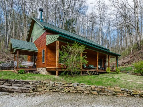 Custom Log Siding Hm, Walk To Lake : Celina : Clay County : Tennessee