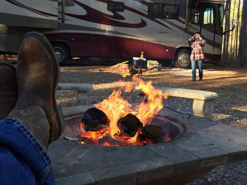 Wooded Campsite With Camper : Union Church : Jefferson County : Mississippi