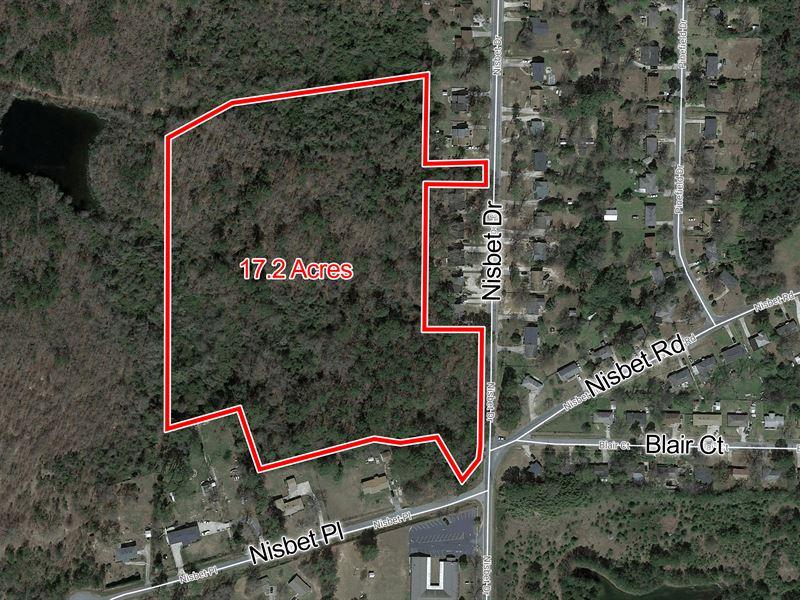 Undeveloped Land 17.2 Acres : Macon : Bibb County : Georgia