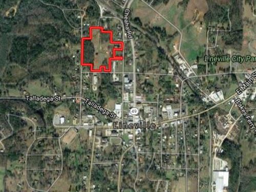 Commercial Property W/ Rail Access : Lineville : Clay County : Alabama