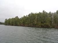 Big Ripley Island On Kawaguesaga : Minocqua : Oneida County : Wisconsin